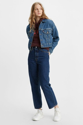 Levi's Kadın Yüksek Bel Kot Ribcage Straight Ankle Jeans - 72693-0072