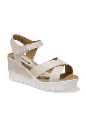 Polaris 91.308569.Z 1FX Bej Kadın Dolgu Topuklu Sandalet 101016735