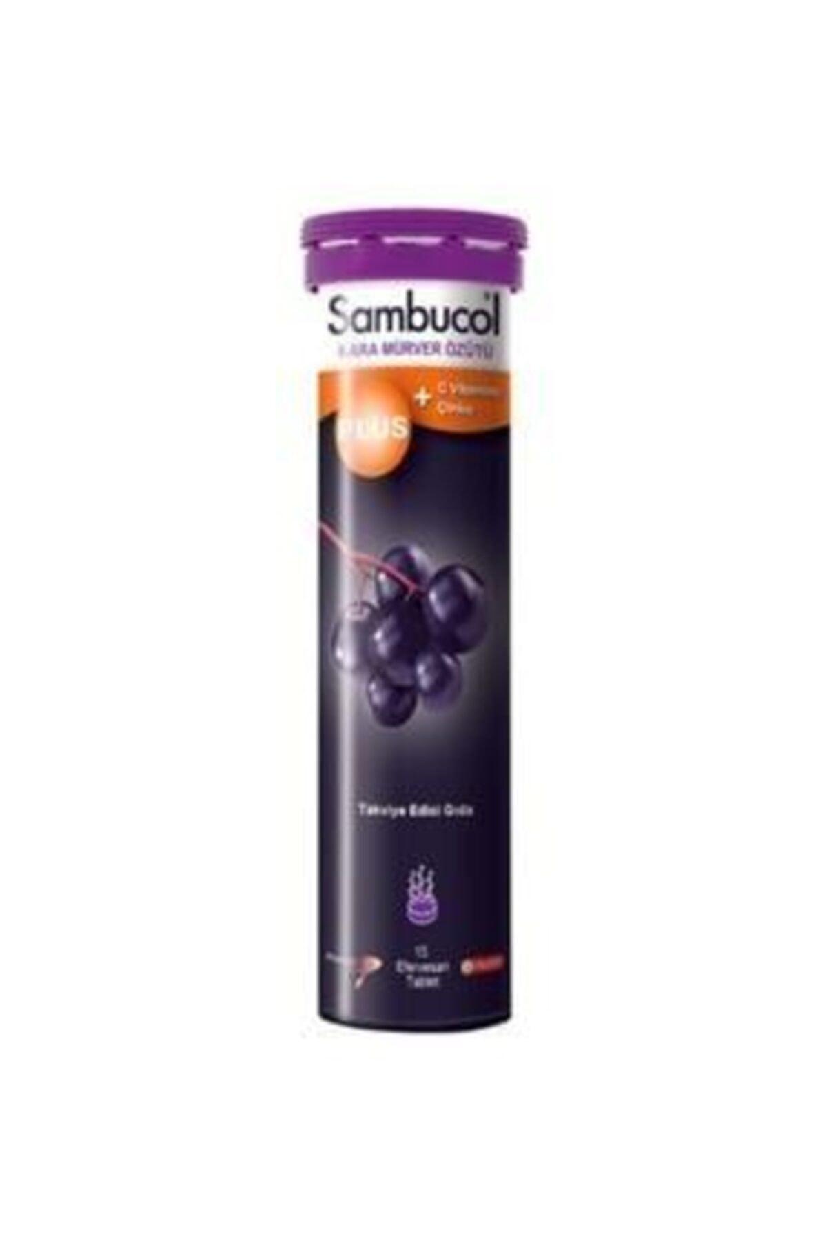 Sambucol Plus Kara Mürver + C Vitamini Çinko Takviye Edici Gıda 15 Tablet 1