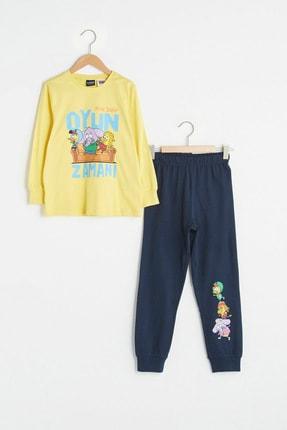 LC Waikiki Erkek Çocuk Sarı Fyp Pijama Takımı