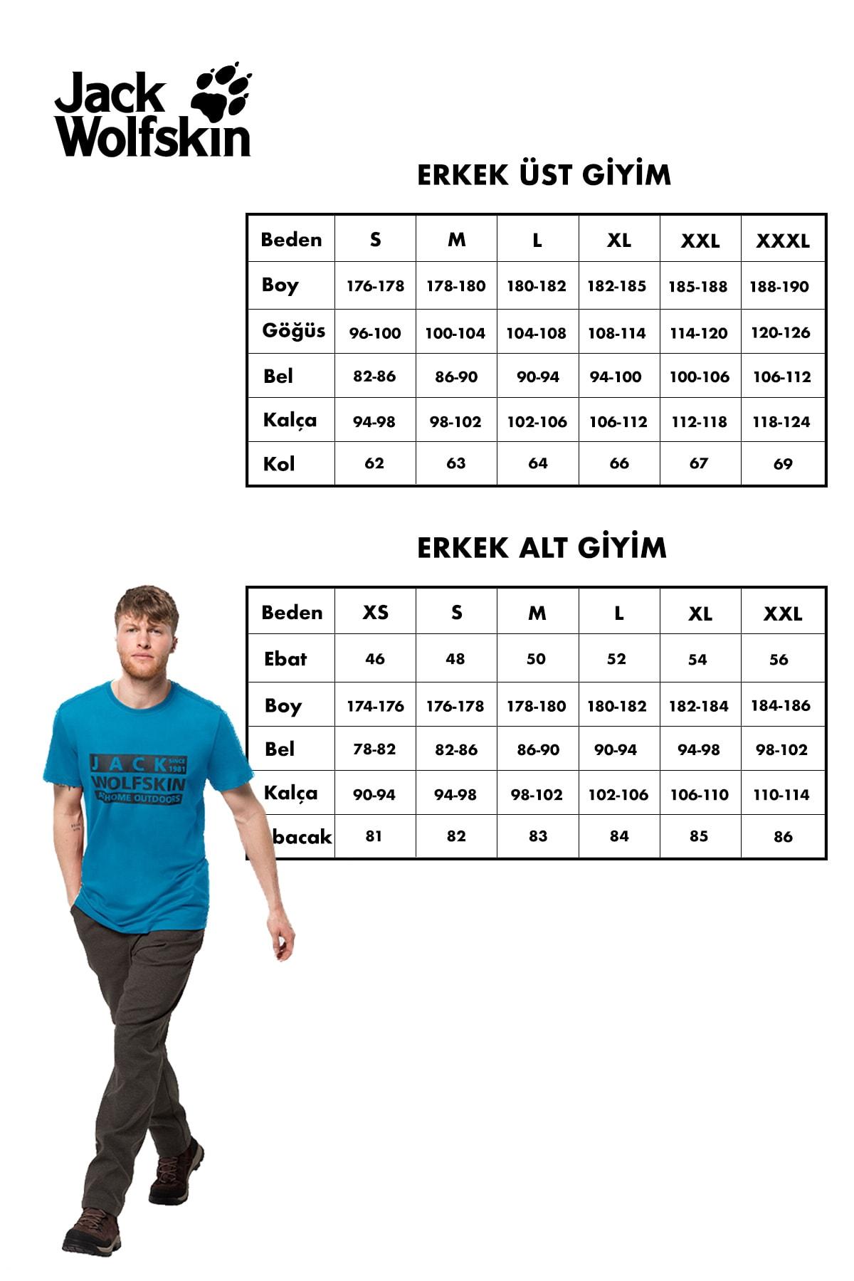 Jack Wolfskin Tee Erkek T-Shirt - 1807071-6000 2