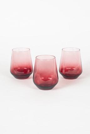 Rakle New Iconic 3'lü Su Bardağı Seti Kırmızı 425 cc