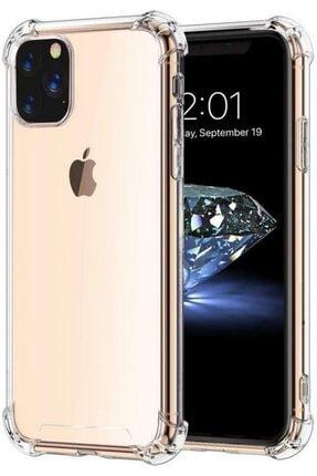 Zengin Çarşım Apple Iphone 11 Pro Max (6.5'') Ince Şeffaf Airbag Anti Şok Silikon Kılıf