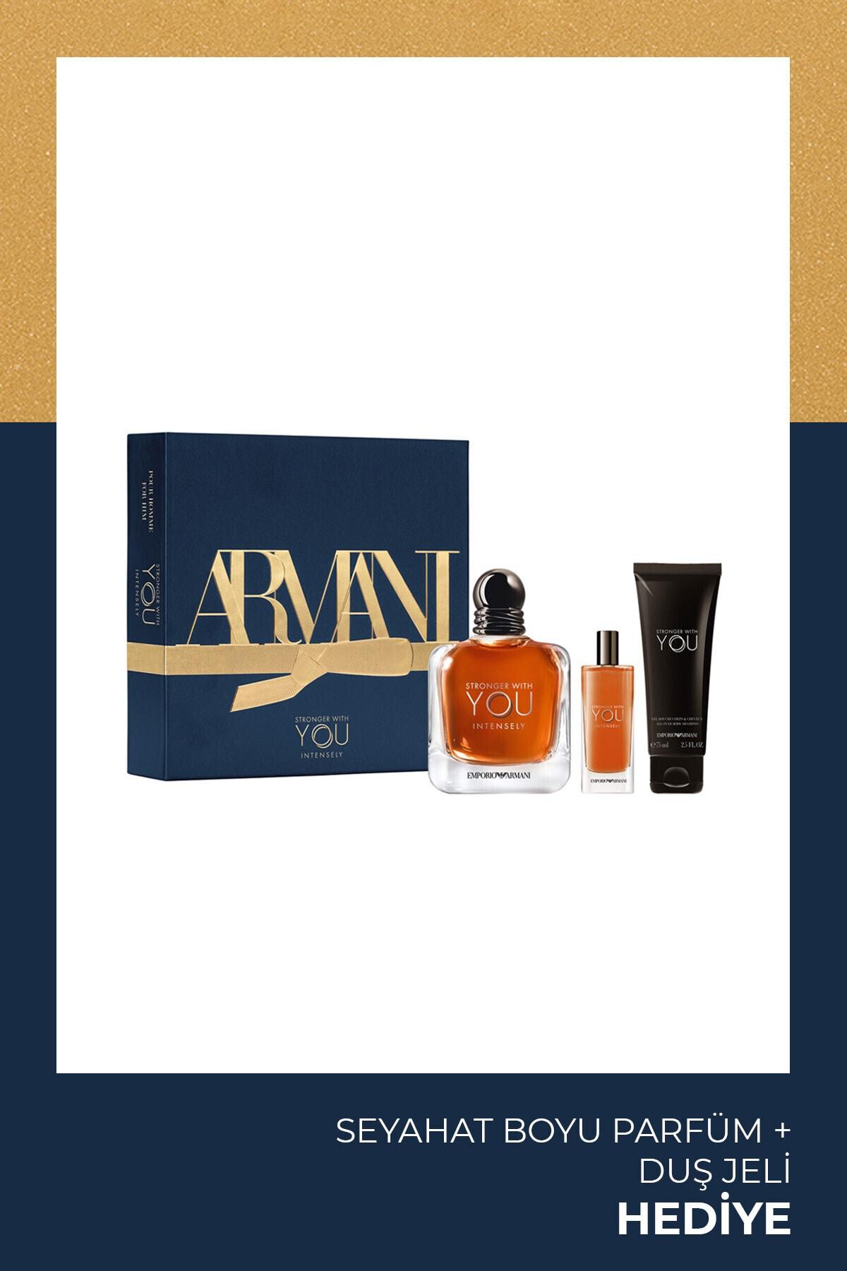 Emporio Armani Stronger With You Intensely Erkek Parfüm Seti 100 Ml 3614273227896 1