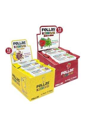 Fellas Kids Meyve Bar 28 G Süper Ikili Kutu 24 Adet - Muzlu X 12 Adet + Çilekli X 12 Adet