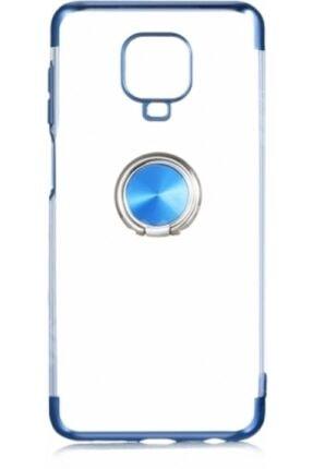 Sunix Redmi Note 9 Pro Yüzüklü Silikon Kılıf Mavi