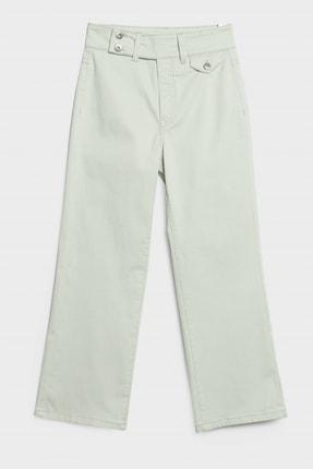 Yargıcı Kadın Nil Yeşili Çift Düğme Detaylı Pantolon