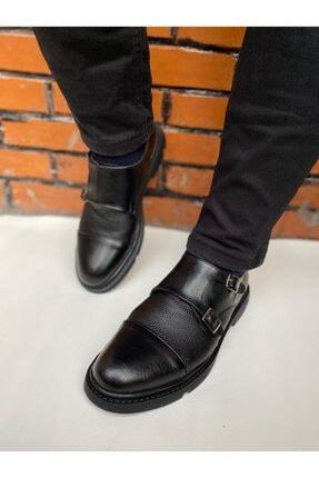 By ÖRS shoes Çift Tokalı Erkek Klasik Deri Ayakkabı