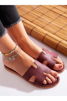 ayakkabıhavuzu Terlik - Bordo - Ayakkabı Havuzu