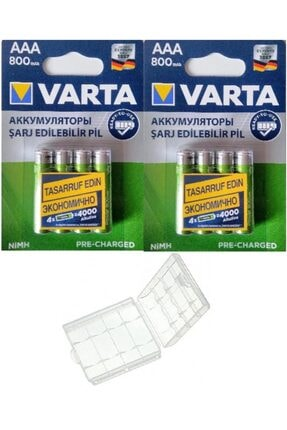 Varta 8 Adet Ready To Use 800mah Ni-mh Aaa Şarjlı Ince Pil+kutu