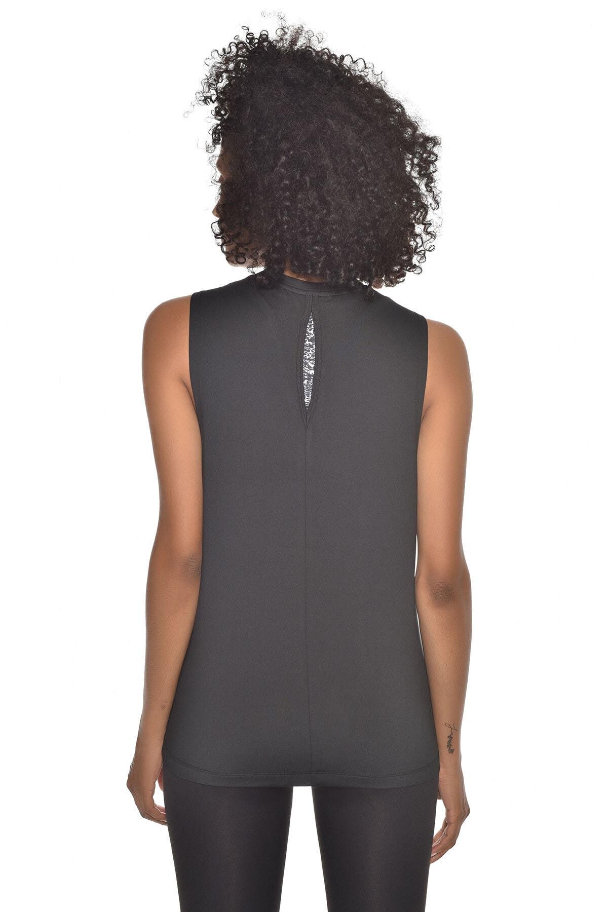 bilcee Kadın Siyah Bra Üstü Atlet GW-9205 2