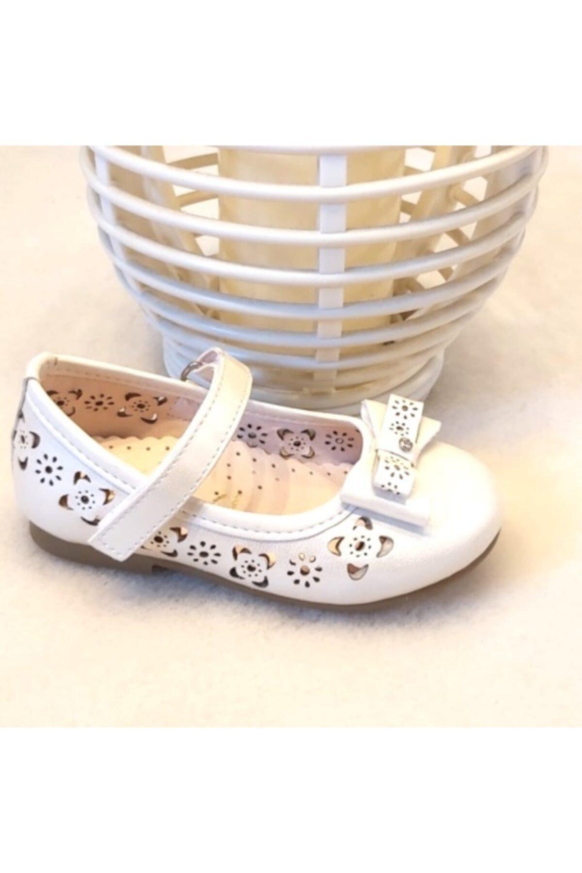 Sanbe Kız Çocuk Beyaz Babet 205 1
