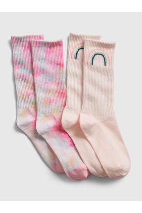 GAP Kız Çocuk 2'Li Desenli Çorap Seti