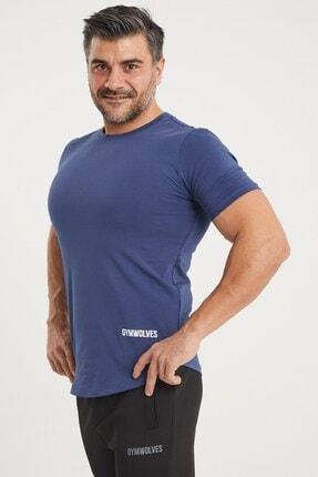 Gymwolves Spor Erkek T-shirt | Indigo | T-shirt | Workout Tanktop | Never Give Up |