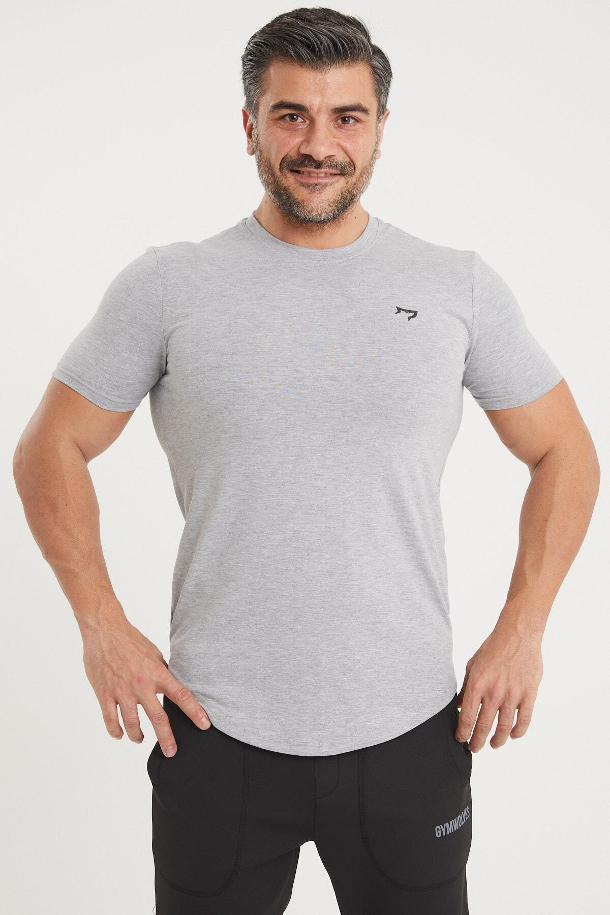 Gymwolves Spor Erkek T-shirt   Gri   T-shirt   Workout Tanktop   1