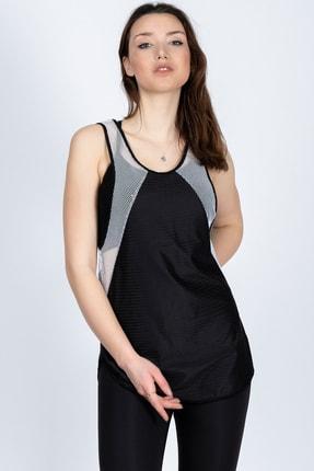 Marka Sportwear Kadın Siyah Kenarları Beyaz File Spor Atlet