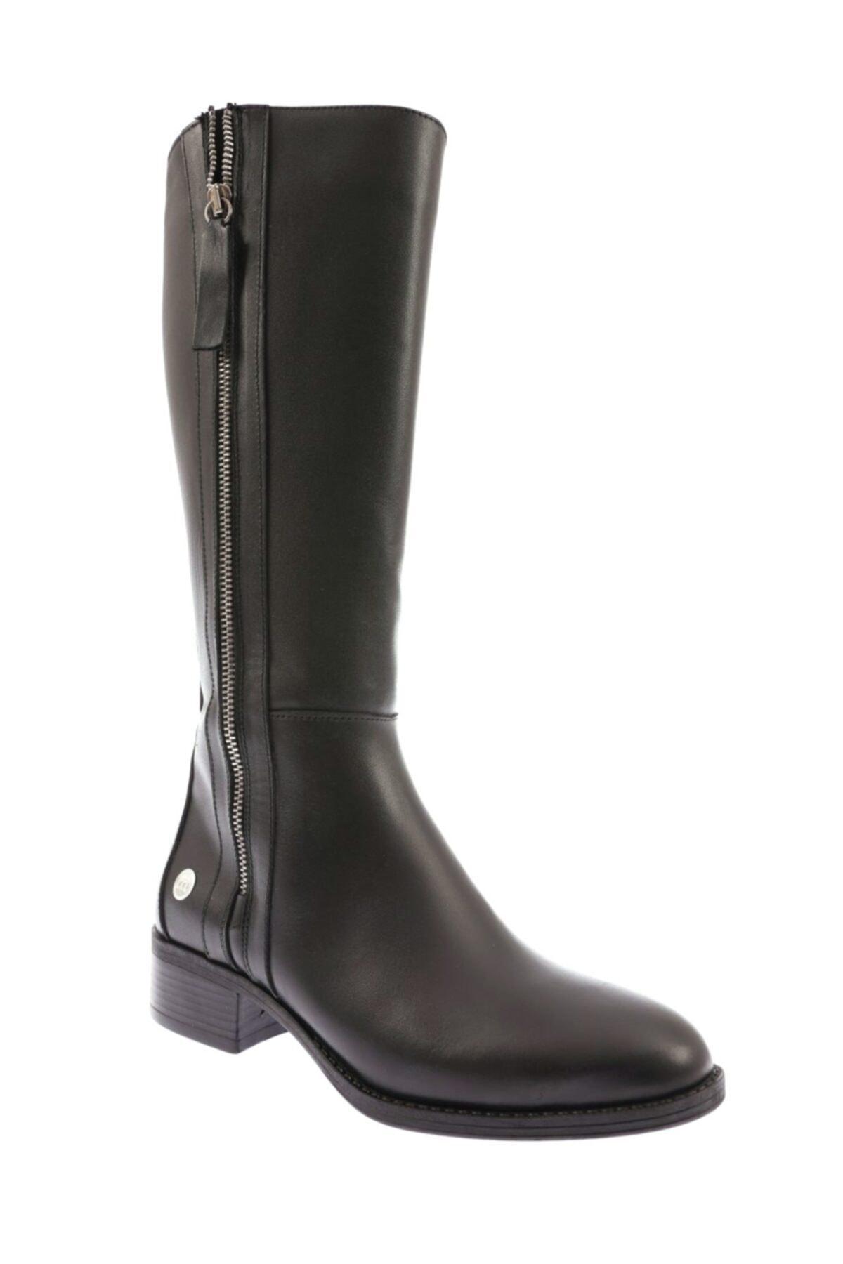 Mammamia D20kc-2000 Deri Kadın Çizme Siyah Faber 2
