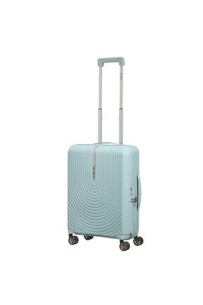 Samsonite Hi-fi -  Mavi 4 Tekerlekli Körüklü Kabin Boy Valiz
