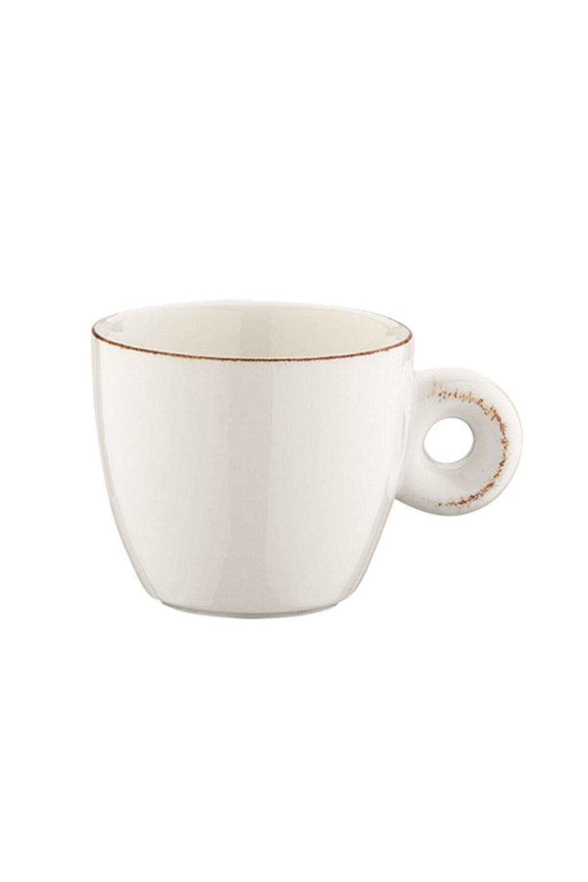 Bonna Porselen Retro Banquet Espresso Fincanı/Tabak 6'lı Takım 1