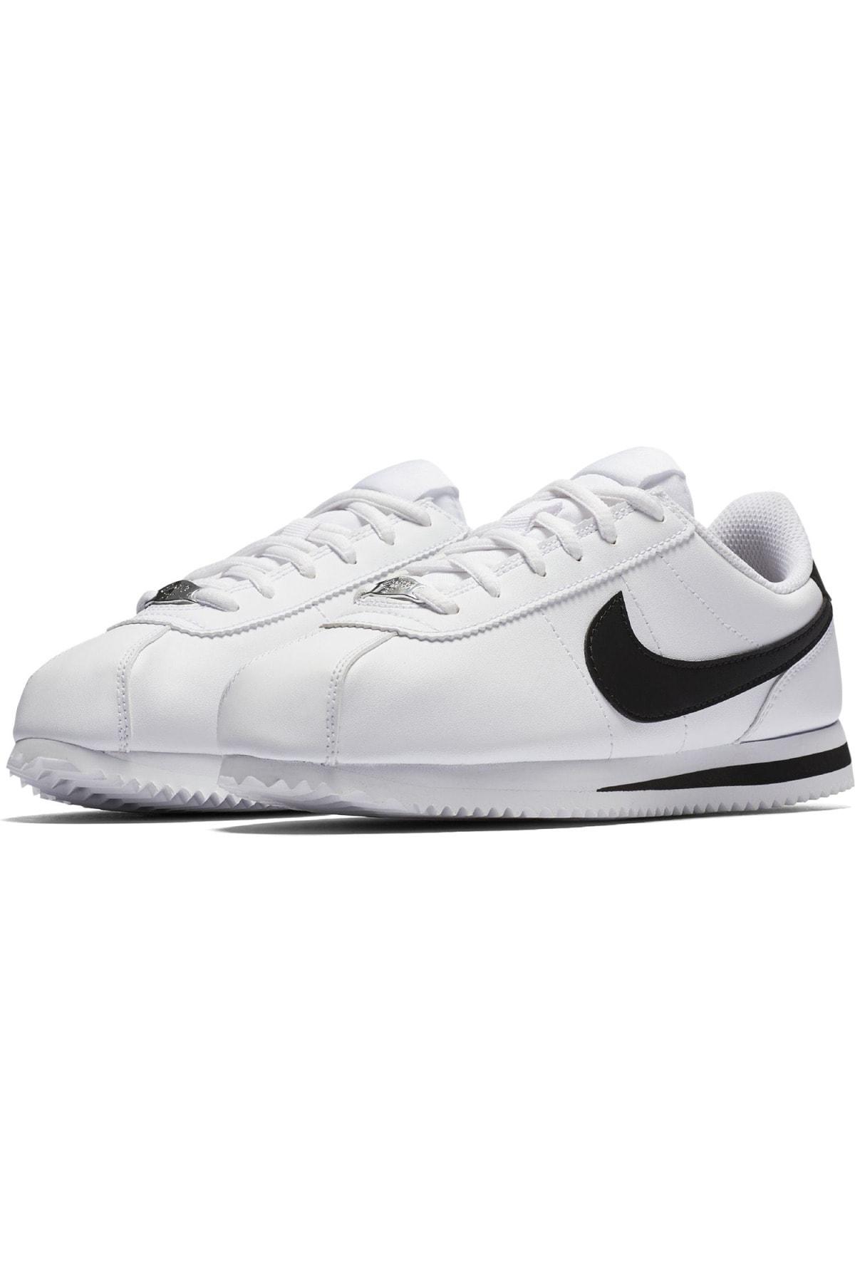 Nike Kadın Beyaz Cortez Basic Sl gs Spor Ayakkabi 904764-102 1