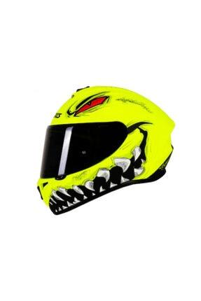 AXXIS Sarı Draken Forza Matt Fluo  Kapalı Kask