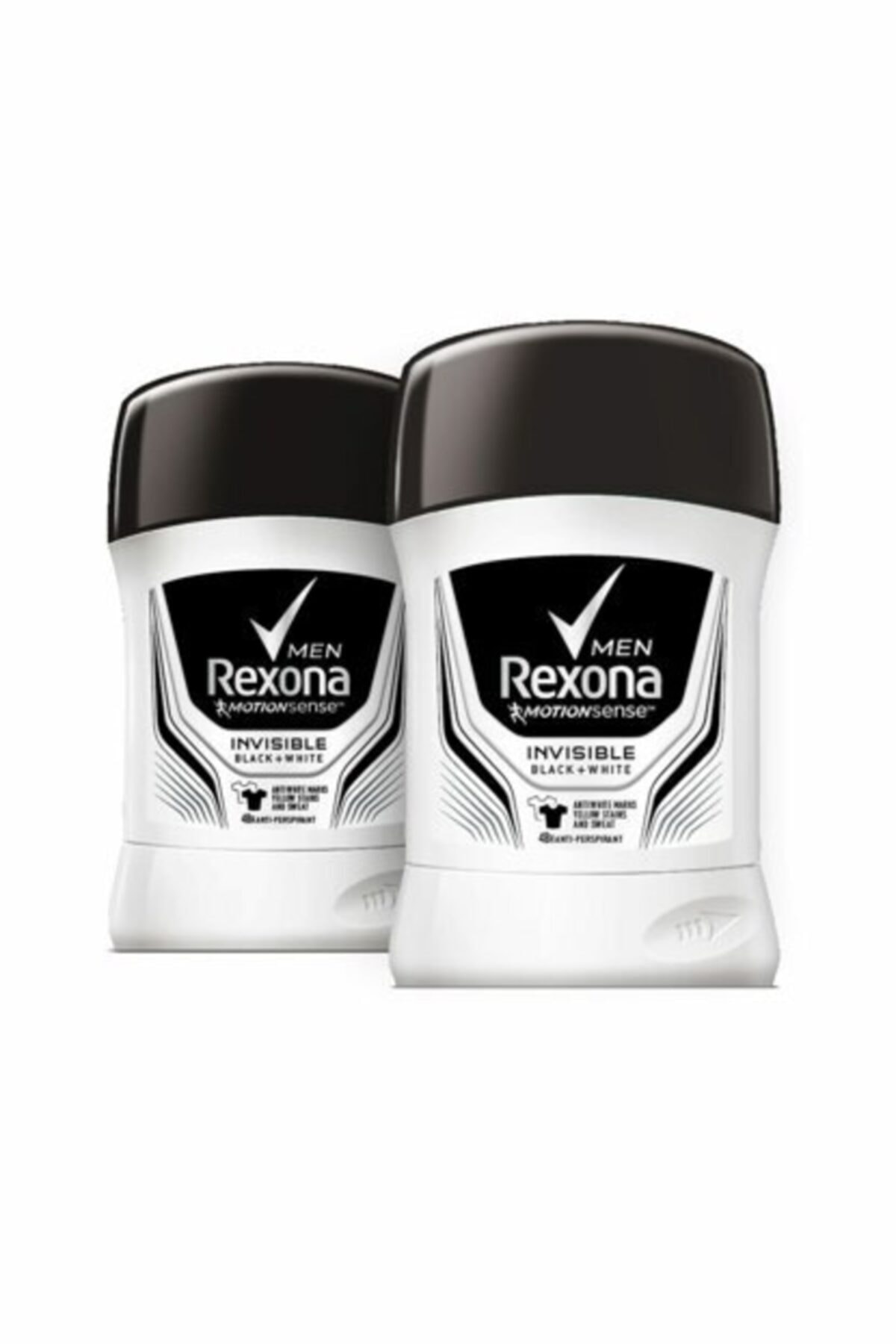 Rexona Erkek Deodorant Stick Invisible Black White 50 ml X2 1