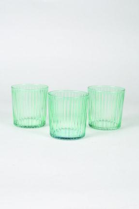 Rakle Seti Yeşil Sicilya 3'lü Su Bardağı 380 Cc