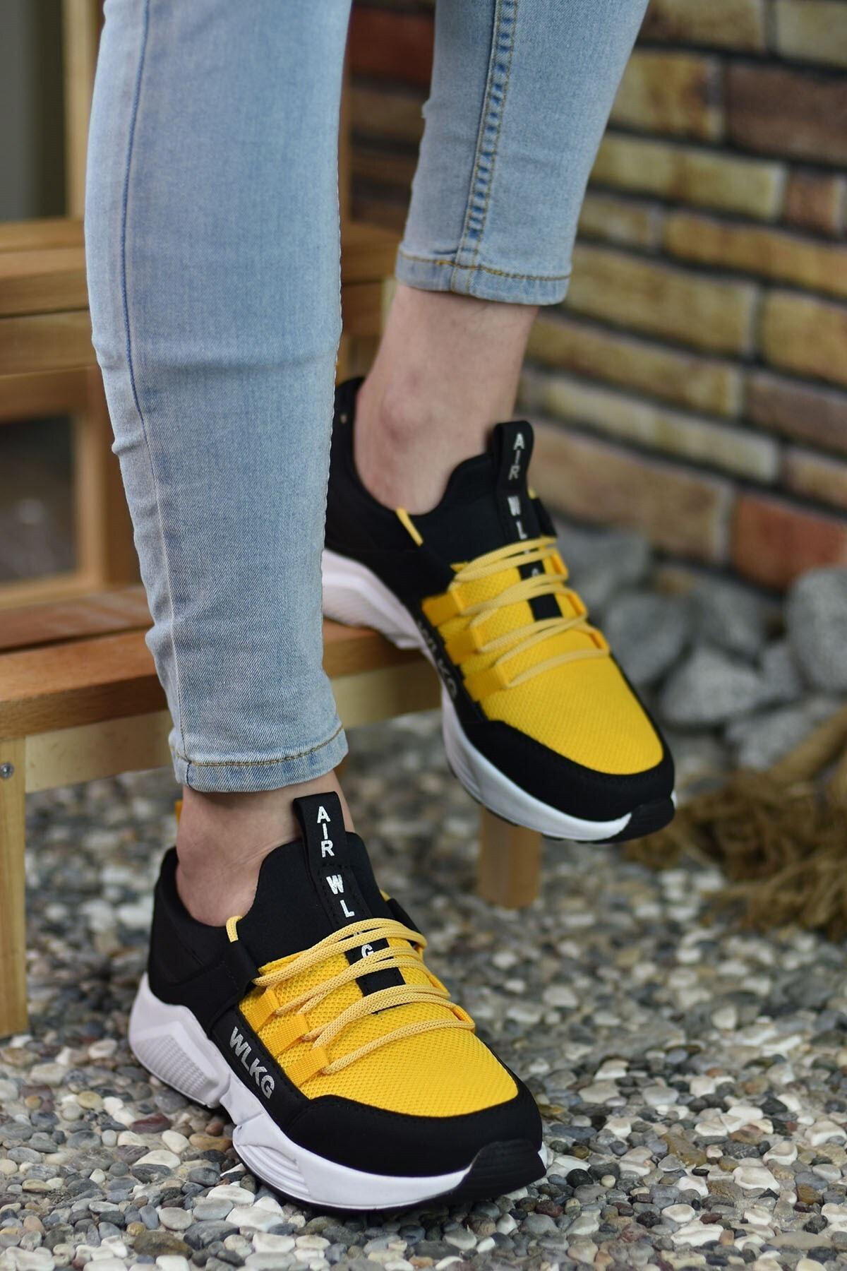 Riccon Siyah Sarı Unisex Sneaker 2