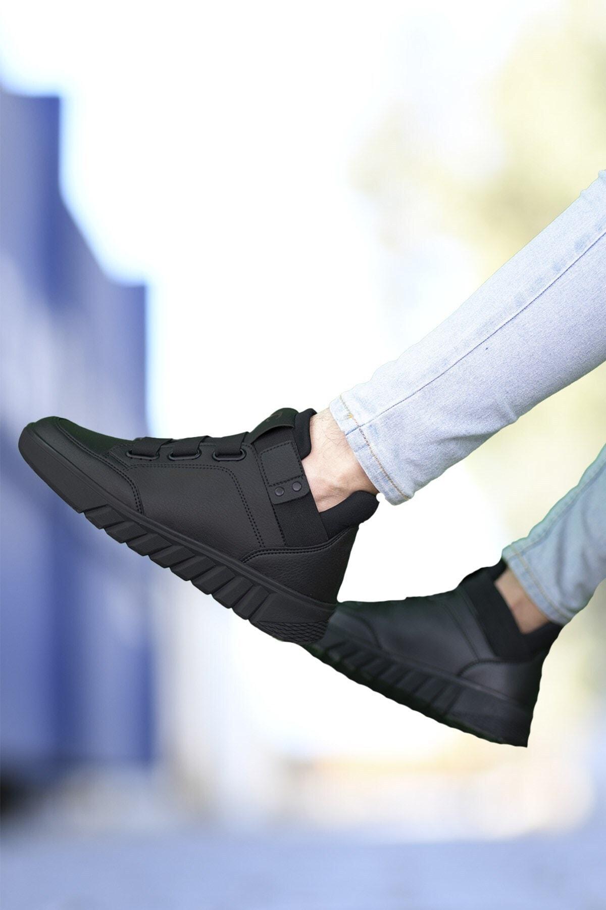 Riccon Erkek Siyah  Sneaker Bot 0012383 1