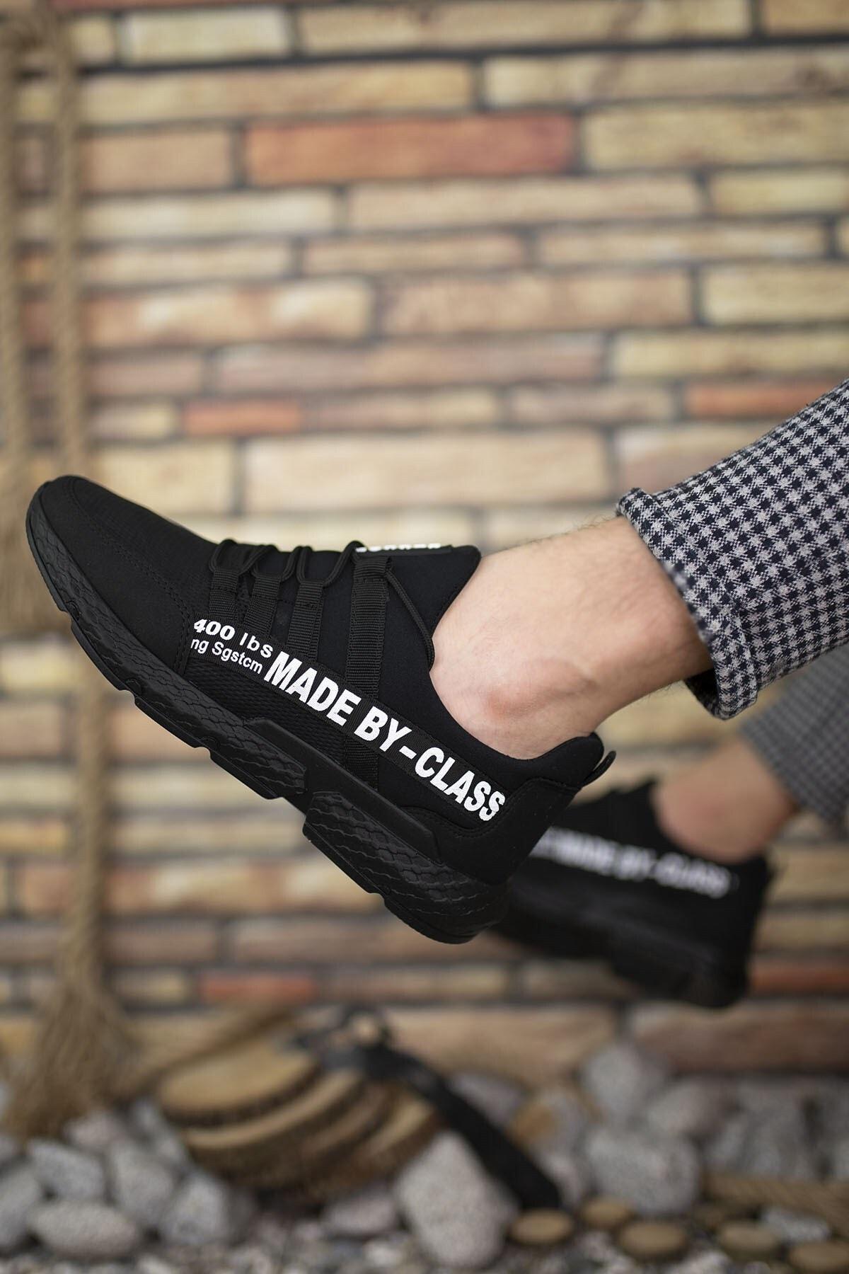 Riccon Siyah Beyaz Erkek Cilt Sneaker 0012SANTO 2