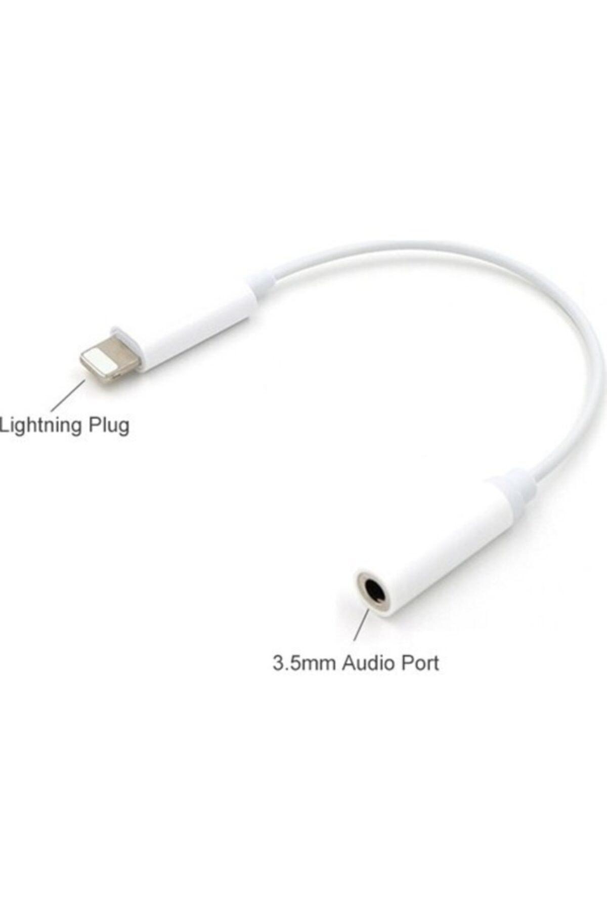 Evren Apple Iphone 5/6/7/8/x/xr/plus Kulaklık Çevirici/dönüştürücülightning To Aux 2