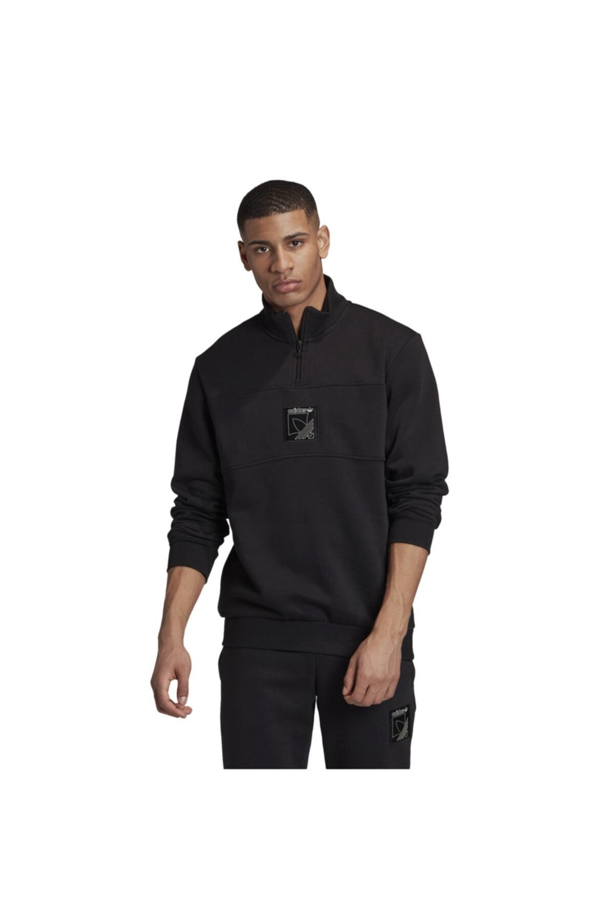 adidas Erkek Siyah Spor Sweatshirt 1