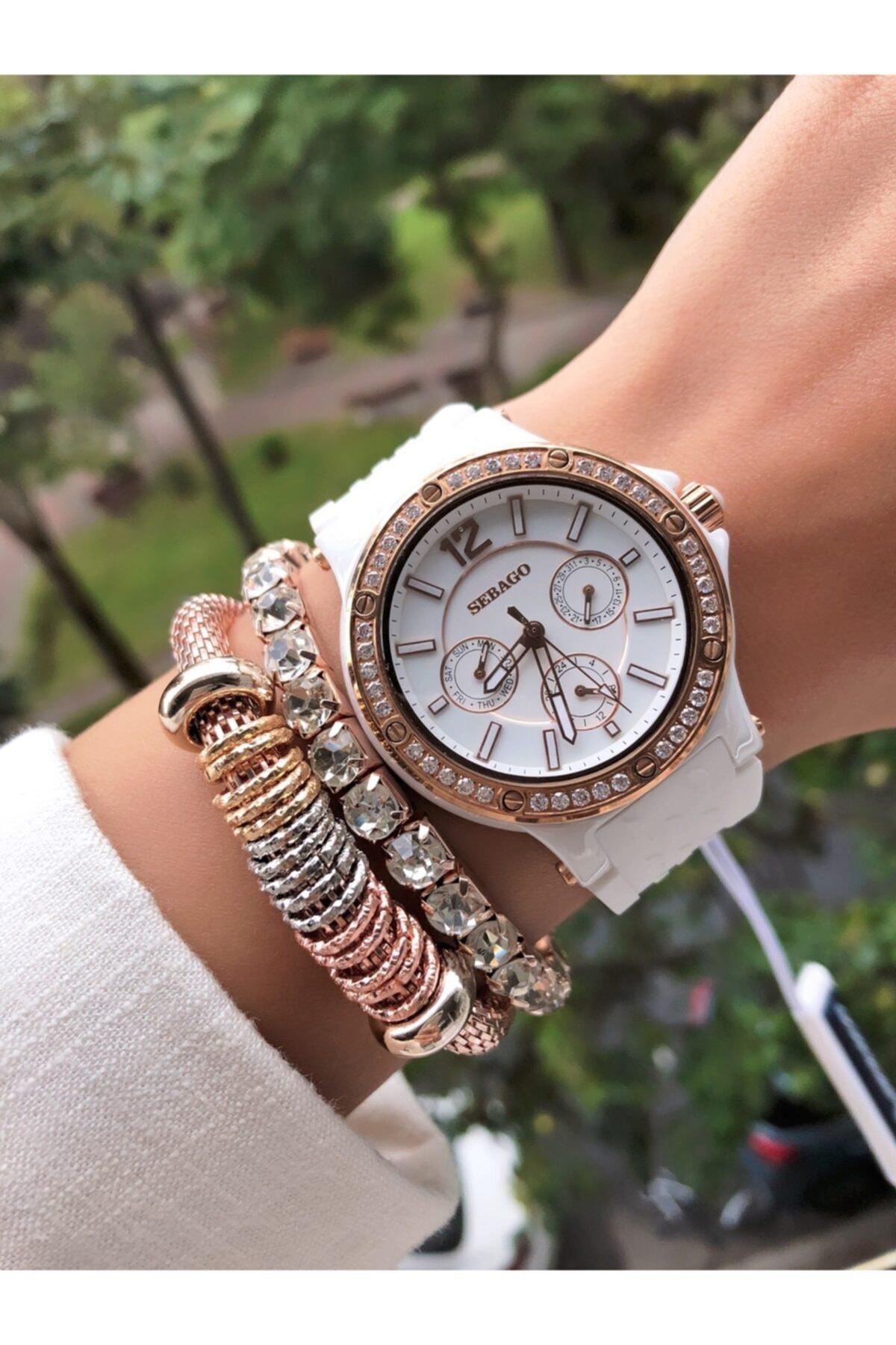 Sebago Kadın Kol Saati + Bileklik Hediyeli 1
