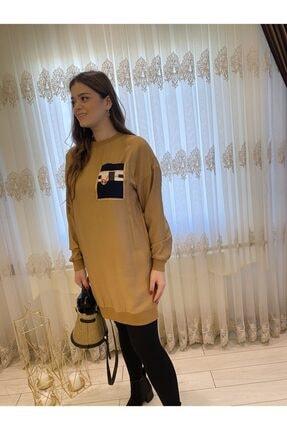 Loreen Taba Renk Cep Detay Kadın Tunik