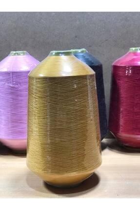 SERDAR İPLİK 150 Denye Renkli ( Muz ) Polyester Overlok Ipliği Hardal Sarısı