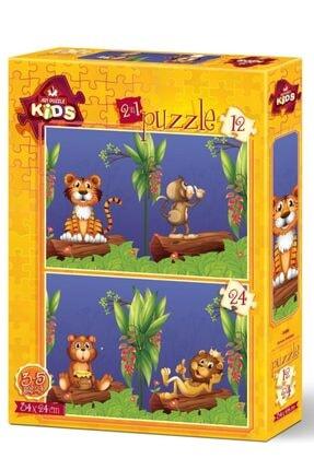 Art Puzzle Orman Dostları 2'li 12+24 Parça 3+ Yaş Puzzle