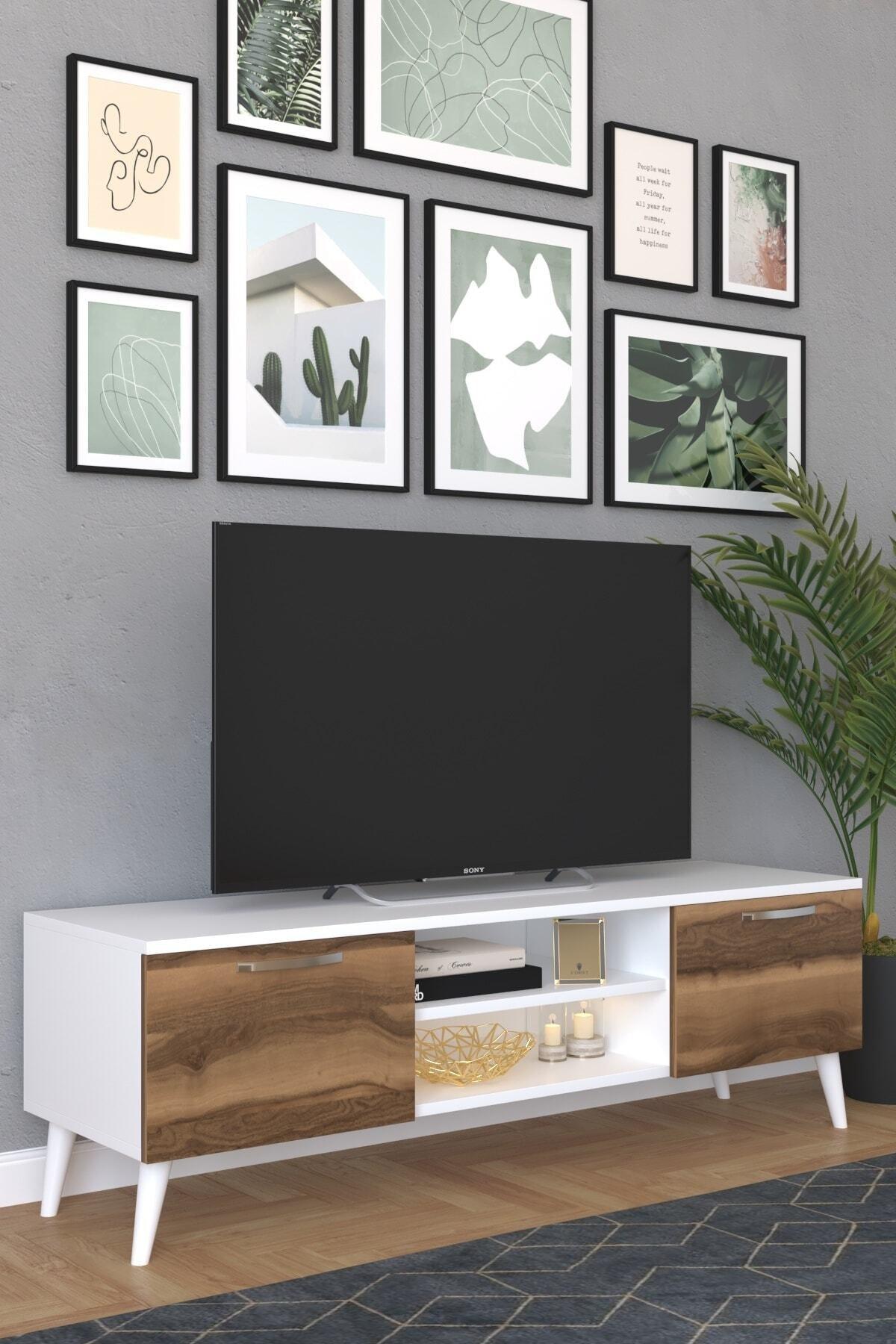 KZY CEVİZ TV SEHPASI 1