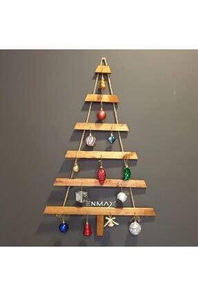 Enmax Yılbaşı Lüks Ahşap Çam Ağacı Halatlı Yeniyıl Ağacı K783