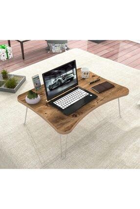 2K Mobilya Mobilya Elif Katlanır Laptop Sehpa Çalışma Kahvaltı Masası Atlantikçam Mdf