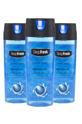 Deep Fresh Pratik Kapaklı Erkek Duş Jeli Cool Men 3 X 500 ml