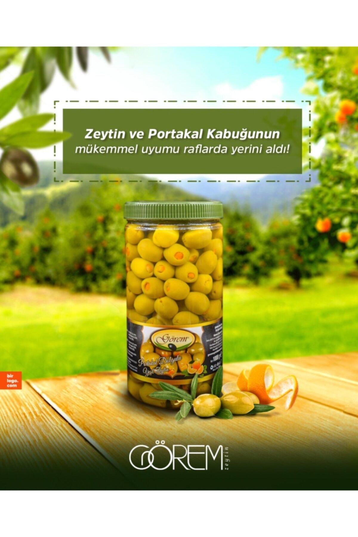 Görem Zeytin Portakal Kabuğu Dolgulu Yeşil Zeytin 1
