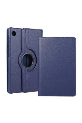 Huawei Matepad T10 Kılıf 360°dönebilen Deri Leather New Style Cover Case(lacivert)