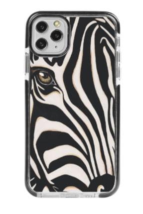Gritty Iphone 11 Pro Asil Zebra Siyah Impact Case Telefon Kılıfı