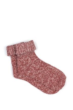 Mavi Kadın Kırmızı Çorap 193016-29823