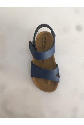 Ceyo 9910-f11 Mavi Erkek Çocuk Mantar&deri Taban Anatomik Sandalet