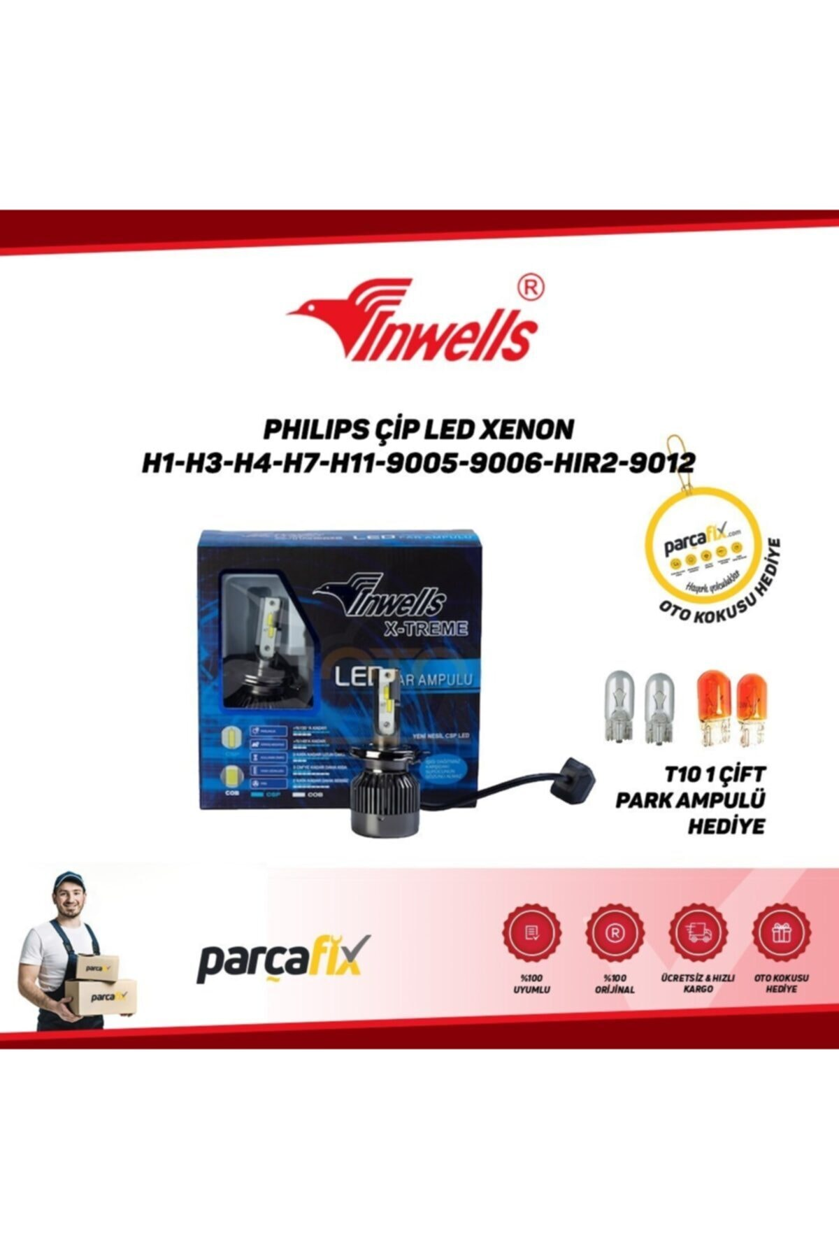 Inwells Philips Çip Led Xenon H3 1