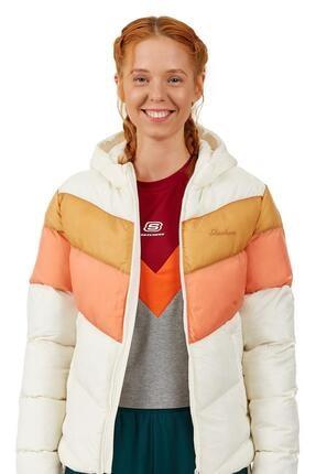 SKECHERS Outerwear W Padded Midweight Jacket Kadın Feather Gray Mont
