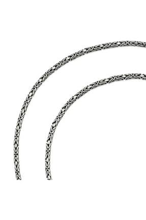 Omar Silver Kral Kare Gümüş Kolye Zincir 2mm 60cm 17,55 gr