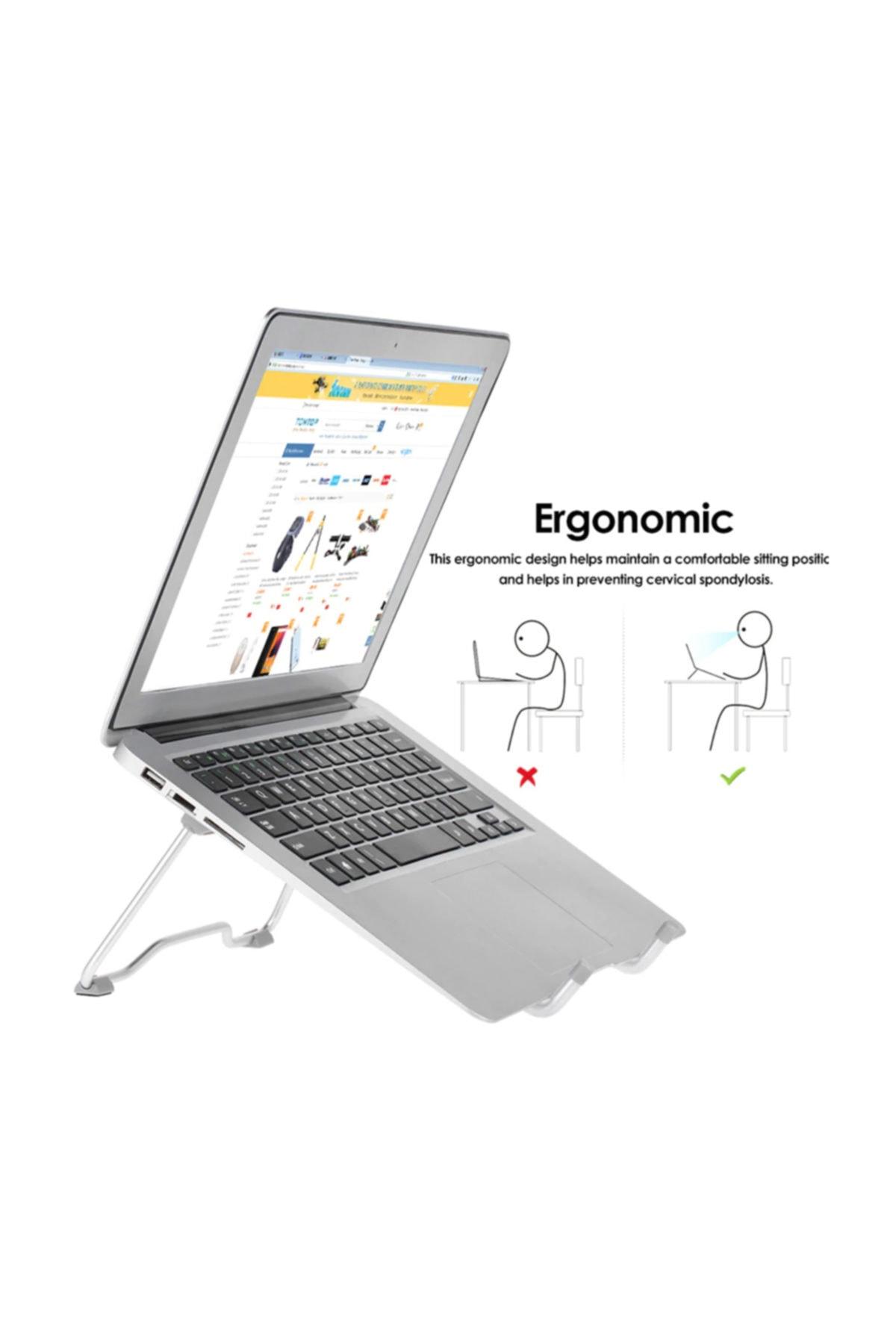 Weather Forecast Alüminyum Ayarlı Laptop Tablet Notebook Yükseltici Tutucu 2