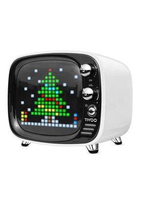DIVOOM Tivoo Retro LED Ekranlı Bluetooth Hoparlör Beyaz